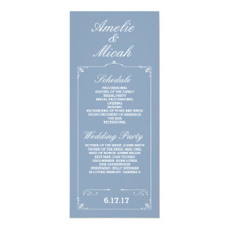 Custom Color Elegant Wedding Programs