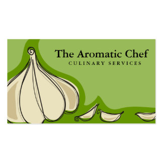 Custom color garlic cloves chef catering biz card pack of standard business cards