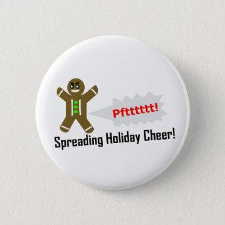 Custom Color - Gingerbread Man Christmas Button