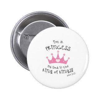 Custom Color I m a Princess Crown Design Pinback Buttons