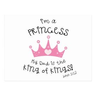 Custom Color I m a Princess Crown Design Post Cards