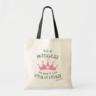 Custom Color I'm a Princess Crown Design Tote Bag