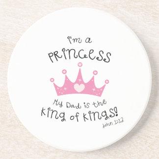 Custom Color I'm a Princess Crown Design Beverage Coaster