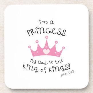 Custom Color I'm a Princess Crown Design Drink Coaster