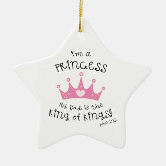 Custom Color I'm a Princess Crown Design Christmas Ornaments