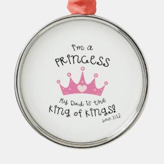 Custom Color I'm a Princess Crown Design Ornament