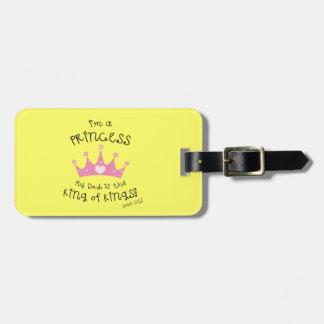 Custom Color I'm a Princess Crown Design Tags For Bags