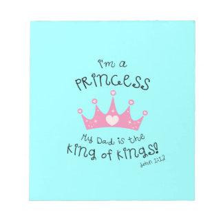 Custom Color I'm a Princess Crown Design Memo Pads