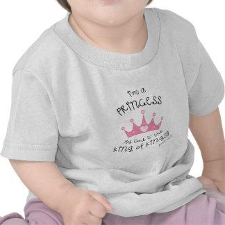 Custom Color I'm a Princess Crown Design T Shirts