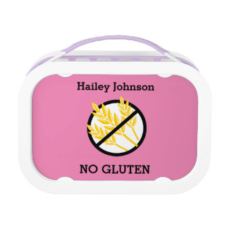 Custom Color Kids Gluten Free Symbol Lunch Boxes