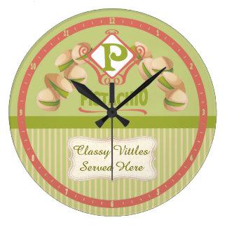 Custom color kitchen clock vintage pistachios
