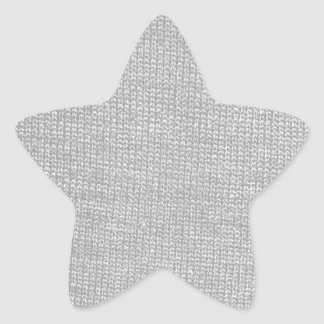 Custom Color Knit Texture Star Sticker