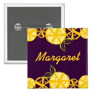 custom color lemon slice baking cooking name badge