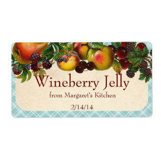 Custom color mixed fruit canning label polka dot shipping label