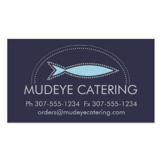 Custom color modern fish chef catering culinary pack of standard business cards