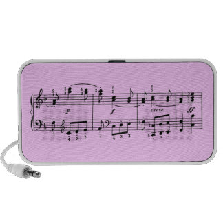 Custom Color Musical Notes Doodle Speaker