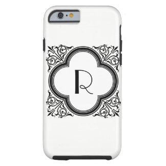 Custom Color Noir Style Border Monogram Tough iPhone 6 Case