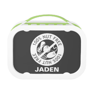 Custom Color Nut Free Nut Allergy Personalized Lunch Box