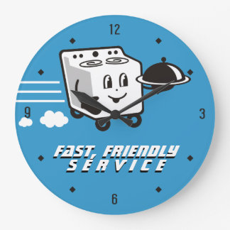 Custom color oven food delivery kitchen clock