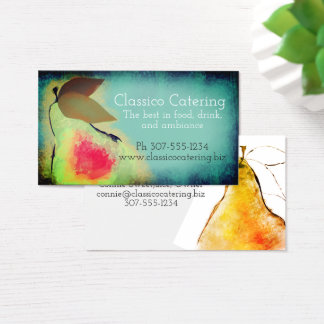 Custom color pears bakery catering business card