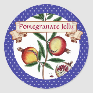 custom color pomegranates fruit canning label round sticker
