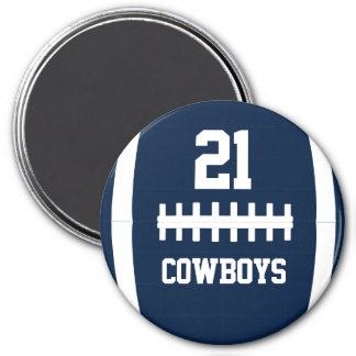 Custom Color Round Football Team Name/Playe Number Magnet