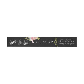 Custom Color Save the Date Floral Address Labels