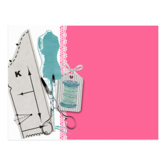 Custom color sewing pattern dress dummy gift card