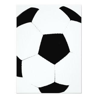 Custom Color Soccer Ball Custom Invitation