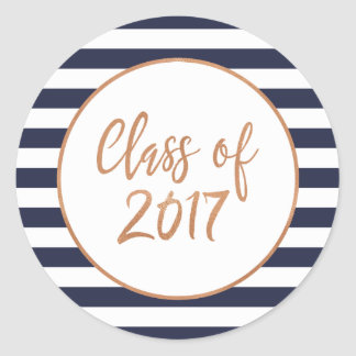 Custom Color Stripes Class of 2017 Stickers