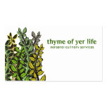 Custom color thyme herbs cooking chef catering business card template