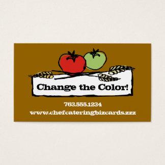 Custom color tomato wheat vegan cooking biz cards