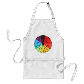 Custom Color Vintage Color Wheel Standard Apron
