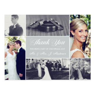 Custom Color Wedding Photo Thank You Post Cards