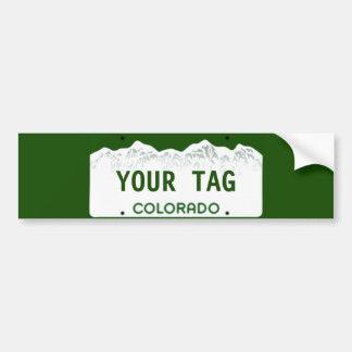 Custom Colorado License Plate Bumper Sticker