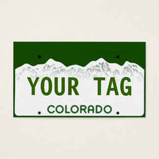 Custom Colorado License Plate Business Card