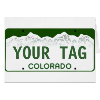 Custom Colorado License Plate Card