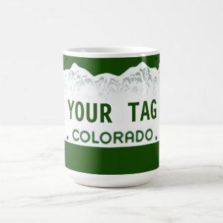 Custom Colorado License Plate Coffee Mug