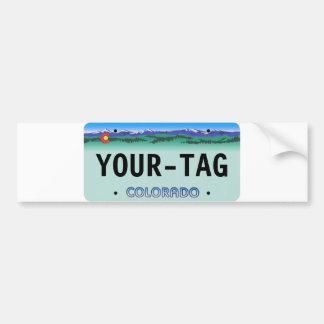 Custom Colorado License Plate - dern Bumper Sticker