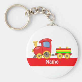 Custom Colorful cartoon train Key Ring