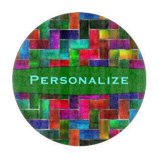 Custom Colorful Glass Mosaic Glass Cutting Board