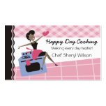 Custom colour African American woman oven cooking Pack Of Standard Business Cards