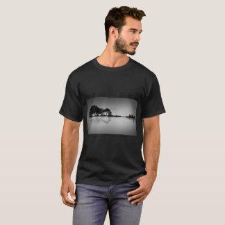 Custom Colour Black Guitar Water Reflection T T-Shirt