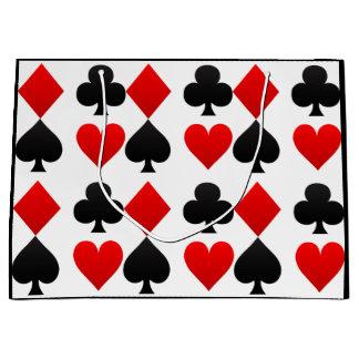 Custom Colour Card Deck-Vegas Heart/Spades Gift Large Gift Bag