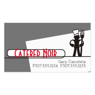 Custom colour chef big fork catering business card