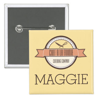 Custom colour chefs knife whisk cooking name badge