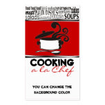 Custom colour cooking pot curling steam chef card