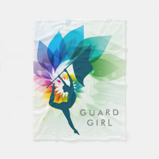Custom Colour Guard Fleece Throw
