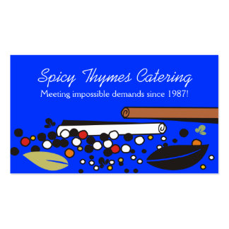 Custom colour herbs spices cooking culinary card pack of standard business cards