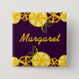 custom colour lemon slice baking cooking name 15 cm square badge